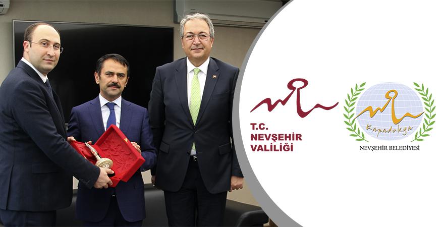 Nevşehir Valisi Aktaş ve Belediye Başkanı Ünver KOP İdaresi'ni ziyaret etti