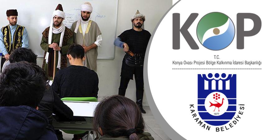 Karamanlı Öğrenciler KOP Desteği ile Manevi Mimarlarını Tanıyor