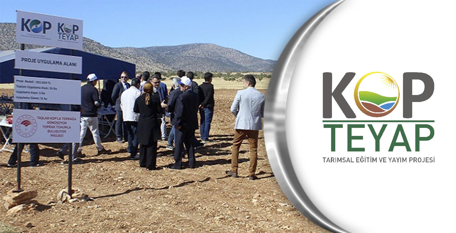 Karaman'da 'Taşlar KOP'la Toprağa Dönüşüyor, Toprak Tohumla Buluşuyor'