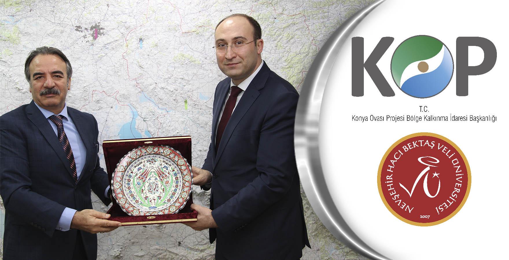 UNİKOP Üye Üniversitesi NEVÜ Rektörü Bağlı'dan KOP İdaresine Ziyaret