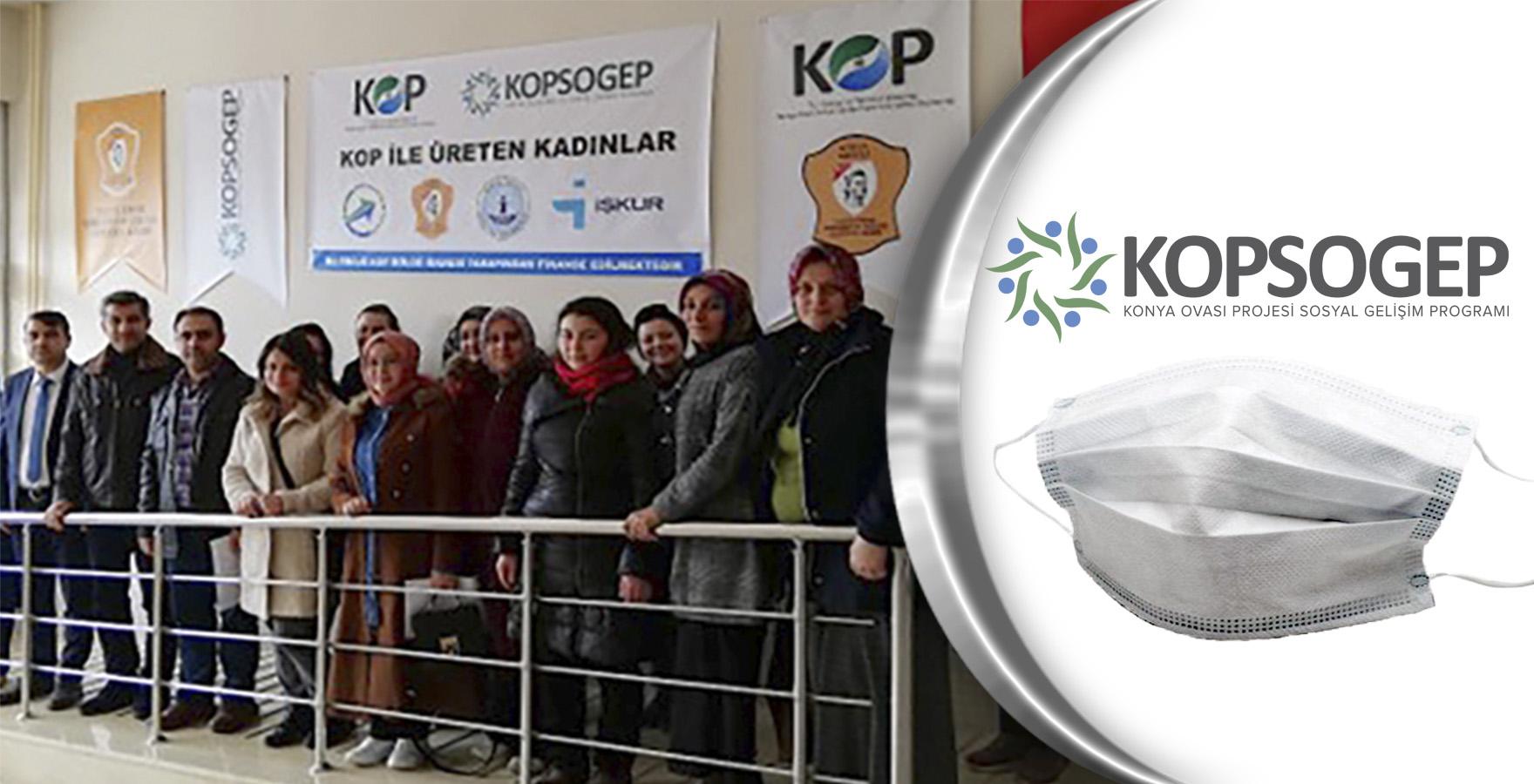 KOP Tekstil Atölyeleri koruyucu yüz maskeleri üretiyor